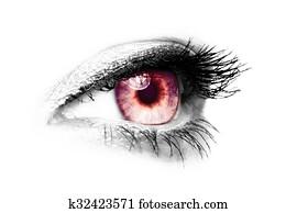 female eye - color key red - vampir