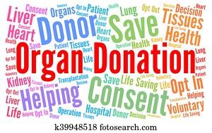 Organ donation word cloud concept