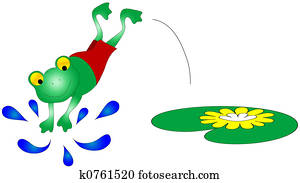 Swimming Frog Graphic