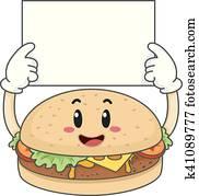 Mascot Burger Hold Board