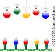 Merry Christmas Ornaments & Light String