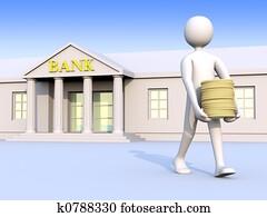 Bank & man & money 1