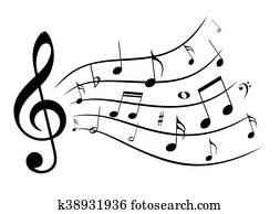 musik, notizen.