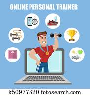 online, individuell, trainer.