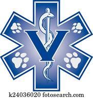 tierarzt, notfall, medizinische, symb