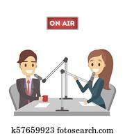 Isolated radio presenter.