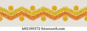 Seamless Flower Rangoli Pattern