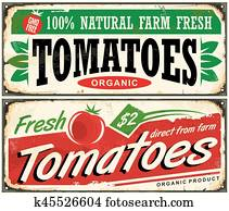 Tomatoes vintage promotional sign