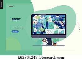 Business series - about company, office life web template
