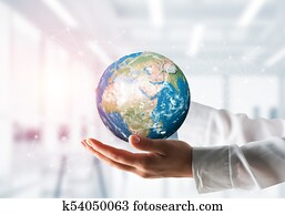 Global business, environment protection concepts.