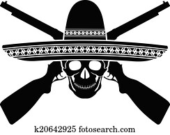 skull of mexican warrior