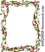Christmas Ribbon Border
