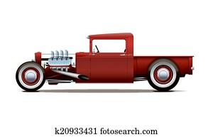 hot-rod truck
