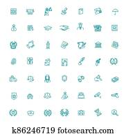 Vector Icons set every single icon