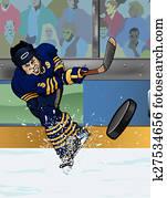 Buffalo ice hockey player