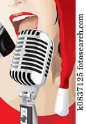Christmas Singer (vector)