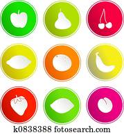 fruit sign icons