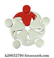 Teamwork 3D leader logo