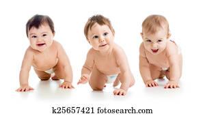 cute babies toddlers crawling