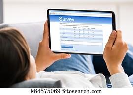 Filling Online Survey Form