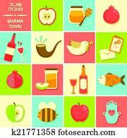 icons for Rosh Hashanah