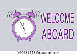 Welcome aboard clip art and stock illustrations 94 welcome aboard text sign showing welcome aboard conceptual photo expression of greetings to a person whose arrived m4hsunfo