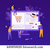 Web development flat illustration