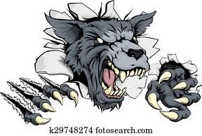 Wolf or Werewolf ripping through