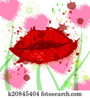 Beauty Hearts Represents Make Up And Female