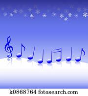 Christmas Carol Music on Snow