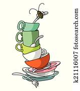 dirty dishes clipart and illustration 765 dirty dishes clip art rh fotosearch com no dirty dishes clipart no dirty dishes clipart