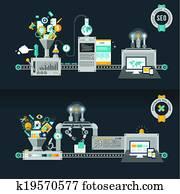 flache, design, begriffe, für, web