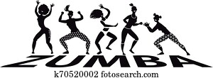 Black and white zumba banner
