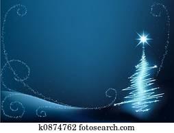 blau, weihnachtsbaum