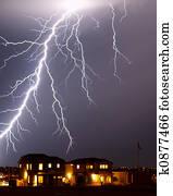 Lightning over home