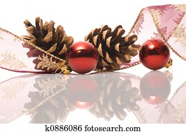 christmas decorations with reflex