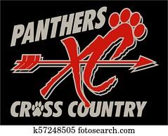 panther, überqueren land