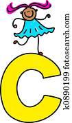 letter C girl
