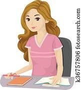 Teen Girl School Study