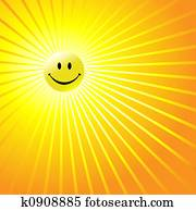 Happy Radiant Smiley Face
