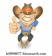Thumbs Up Cowboy (illustration)