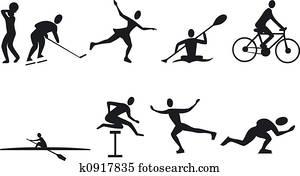 Athlete Silouettes