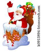 Santa Claus in chimn