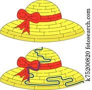 Straw hat maze