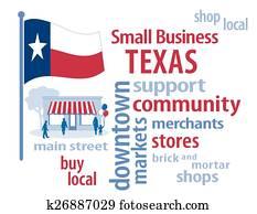 texas, flag,, einzelfachhandel