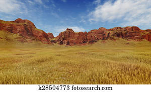 Red canyon rocks at daytime