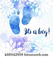 It's a boy! Floral background