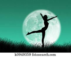 Dancer in the moon