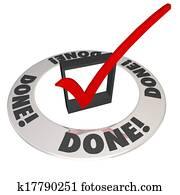 Done Check Mark in Checkbox Mission Job Accomplishment Complete