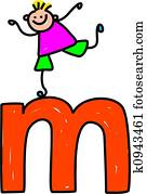 letter M boy